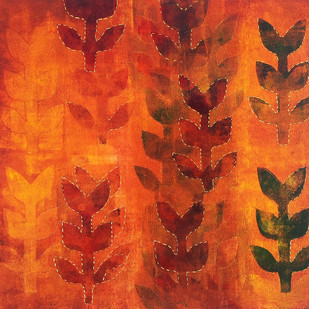 Untitled by Sonali Chouhan, Decorative, Decorative Painting, Oil on Paper, Red color
