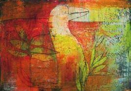 Sans Titre 8 by Srinath V, Naive, Naive Painting, Mixed Media on Paper, Brown color