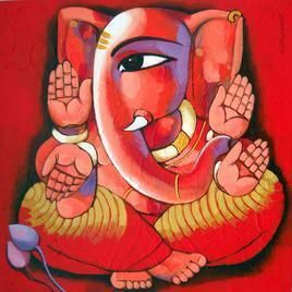 Ganesha - Painting by Sekhar Roy
