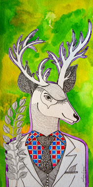 Deer - Painting by Pragati Sharma Mohanty