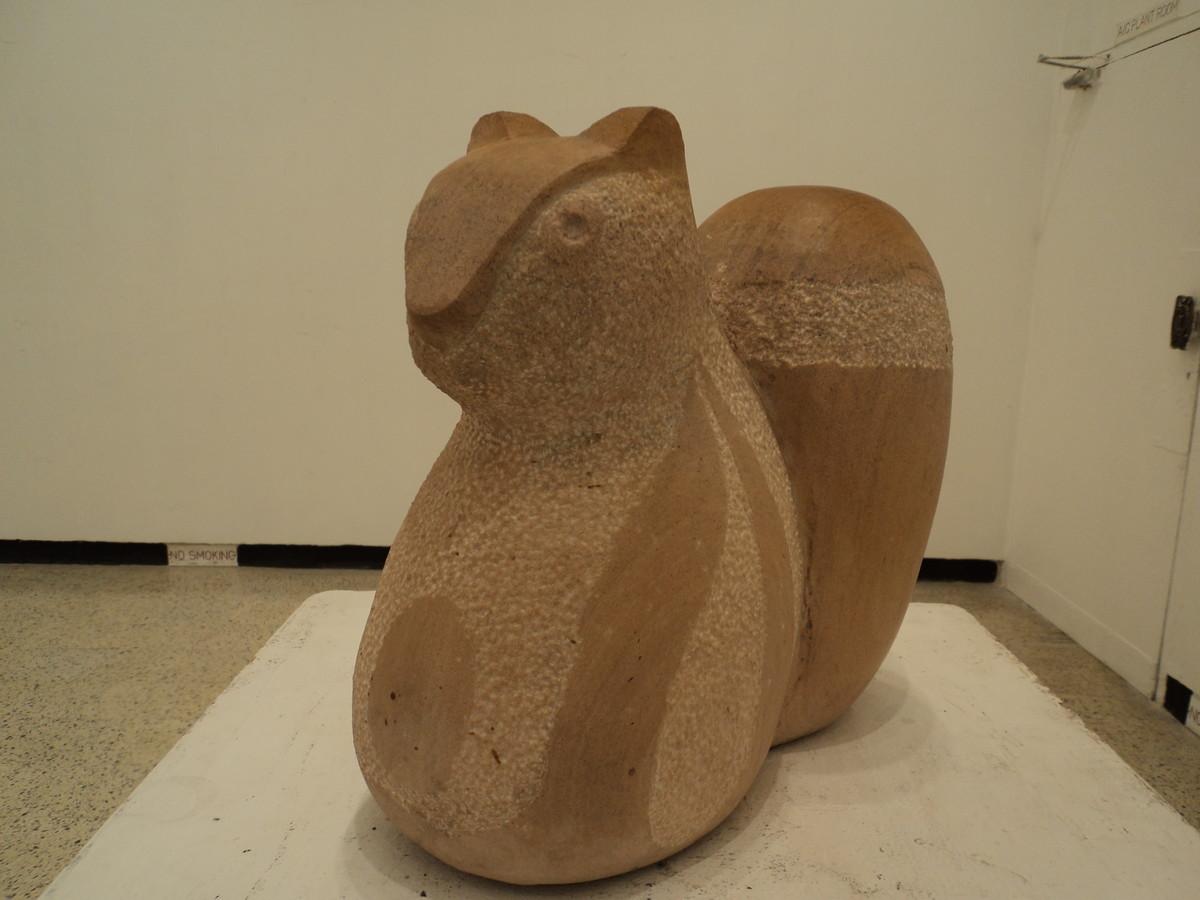Squirrel by Vikram Waghmode, Art Deco, Art Deco Sculpture   3D, Sandstone, Beige color