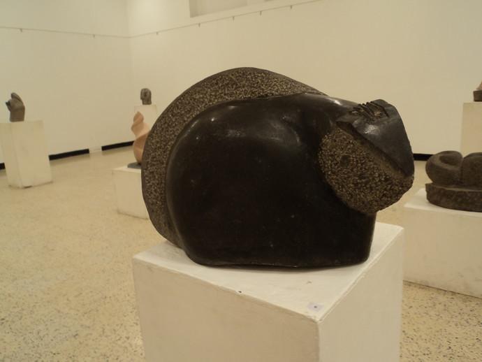 Squirrel by Vikram Waghmode, Art Deco, Art Deco Sculpture | 3D, Stone, Beige color