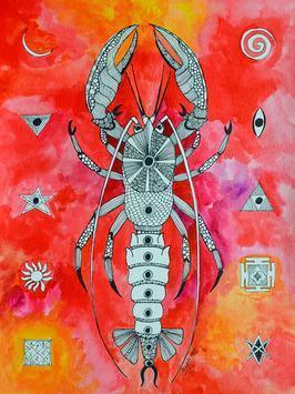 Vrishchik by Pragati Sharma Mohanty, , , Red color