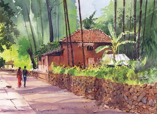 Konkan by Gajanan Kashalkar, , , Brown color