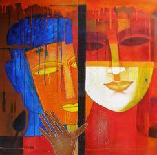 Colour of Love 11 by Chaitali Mukherjee, , , Brown color