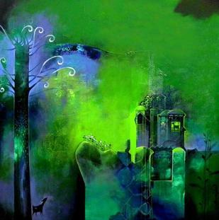 I Have Lost Myself by Pradip Sengupta, , , Green color