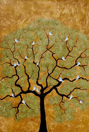 Bythetree - Painting by Sumit Mehndiratta