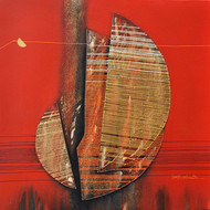 Untitled by Rahul Dangat, Decorative, Decorative Painting, Acrylic on Canvas, Red color