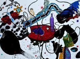 Layers2 by Raghu A Wodeyar, , , Brown color