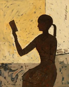 UntoldStory by Alok Kumar, Painting, Acrylic on Canvas, Brown color