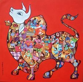 Nandi by Vivek Kumavat, , , Red color