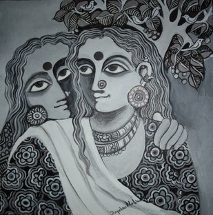 Untitled by Jayshree P Malimath, , , Gray color