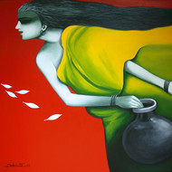 Untitled - Painting by Debdutta Nundy