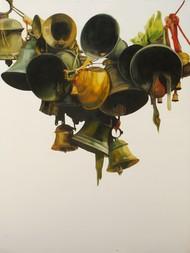 Faith18 by Prasoon Poddar, Realism Painting, Oil & Acrylic on Canvas, Gray color