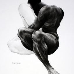 Purusharth 176 by Dilesh Hazare, Illustration Drawing, Charcoal on Paper, Gray color