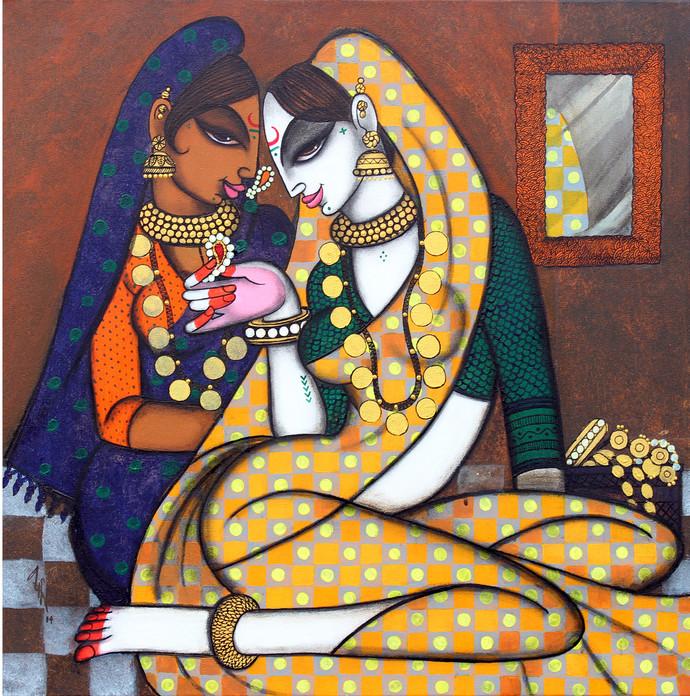 Rhythmic 13 To Adorn Digital Print by Varsha Kharatmal,