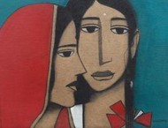 LadyIII by Nagesh Ghodke, , , Brown color