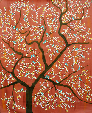 VanmeshRiza by Sumit Mehndiratta, Painting, Acrylic on Canvas, Brown color