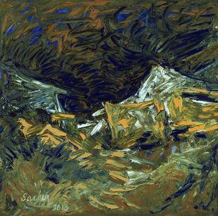 Rustic Digital Print by Sachin Upadhye,Impressionism
