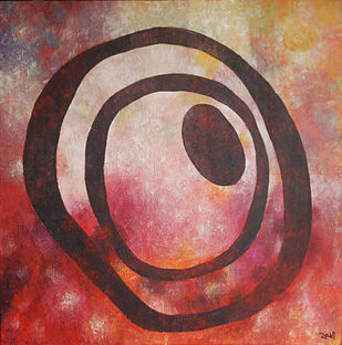 Echo & Significance by Studio Zaki, Conceptual Painting, Acrylic on Canvas, Brown color