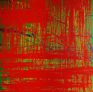 Abstract 16 by Studio Zaki, Abstract Painting, Acrylic on Canvas, Red color