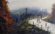 """Landscape - III"" by Anirban Seth, , , Gray color"