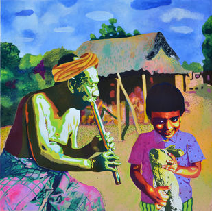 The Harmony of Generations Digital Print by Gayatri Artist,Photorealism