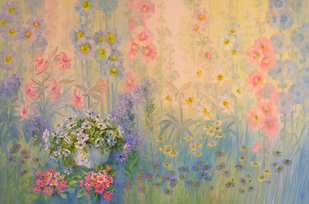 Harmony in Garden - Painting by Swati Kale