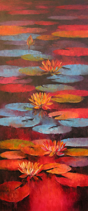 Water Lilies 42 by Swati Kale, , , Brown color