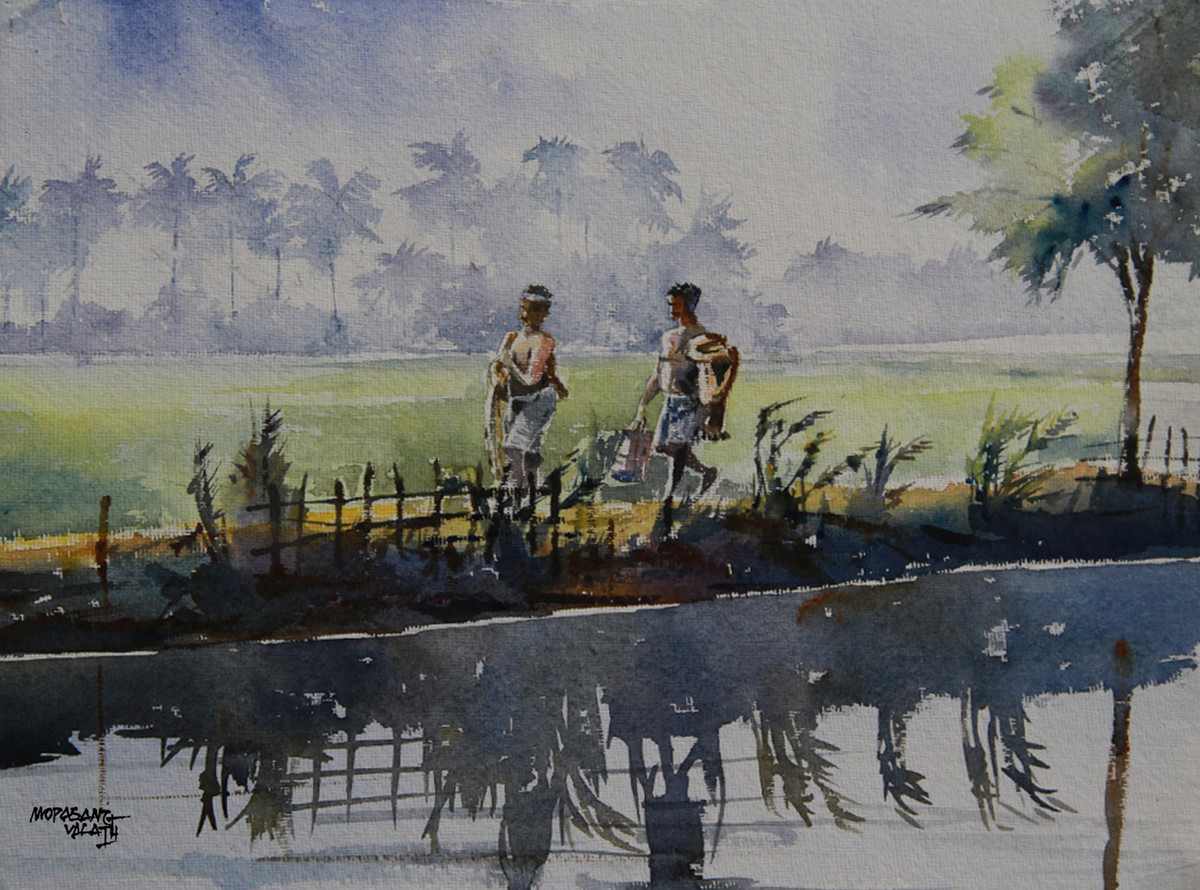 Fishermen by Mopasang Valath, , , Gray color
