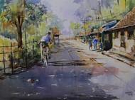 Morning Ride by Mopasang Valath, , , Brown color