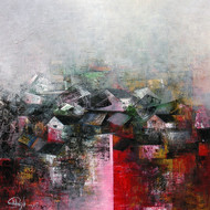 The Village - Painting by M Singh
