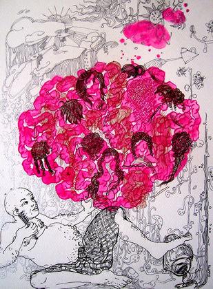 Pink Mania Artwork By Sudatta Basu