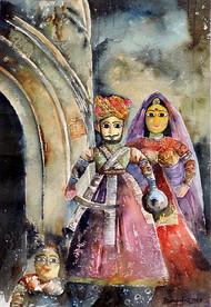 King & Queen Digital Print by Badal Majumdar,Decorative