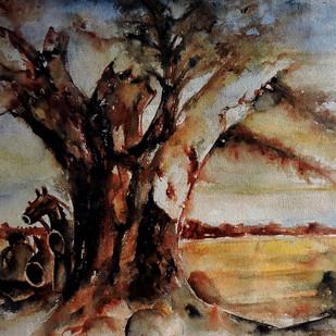 Village Deity 2 Digital Print by Badal Majumdar,Impressionism