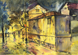 Golden Night by Sunil Bambal, , , Beige color