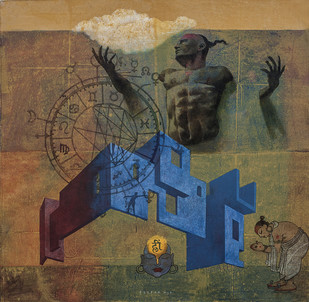 House of Gods 18 Digital Print by Deepak Nag Ji Mer,Surrealism