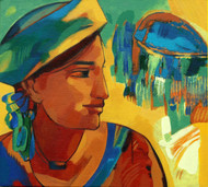Untitled by Avinash Mokashe, Painting, Acrylic on Board, Green color