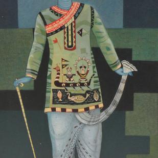 Babu Digital Print by Bhaskar Lahiri,Folk