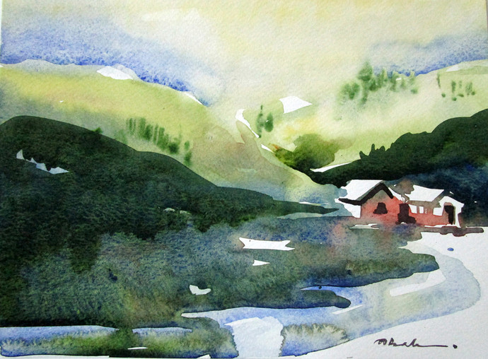 Water colour 7%287x9