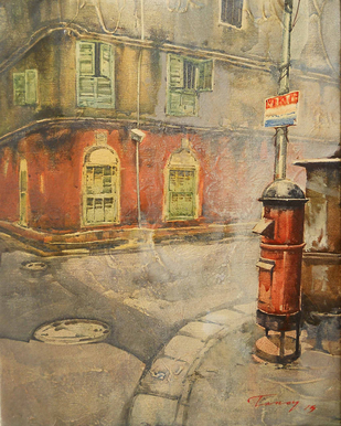 Untitled - Painting by Tanoy Choudhury