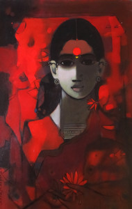 Face by Sachin Sagare, , , Brown color