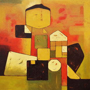 Child's Innovation by Dipak Asole, Decorative Painting, Oil on Canvas,