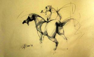 Motion VII - Drawing by Mithun Dutta
