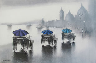 Monsoon Ride - Painting by Somnath Bothe