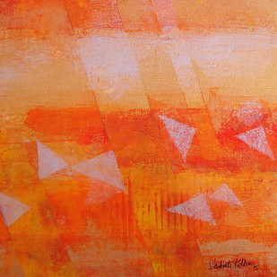 Element 07 by Vedanti S Kolhe, , , Orange color