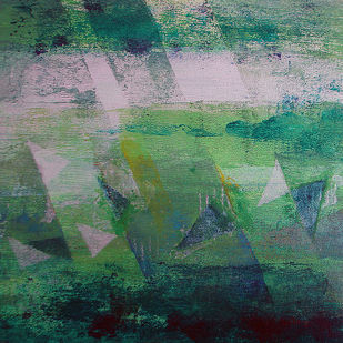 Element 08 by Vedanti S Kolhe, Abstract Painting, Acrylic on Canvas, Green color