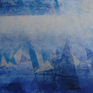 Element 10 by Vedanti S Kolhe, Abstract Painting, Acrylic on Canvas, Blue color