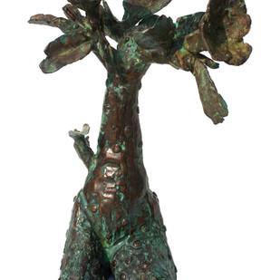 Adenium I by Amalesh Das, Art Deco Sculpture | 3D, Bronze, White color