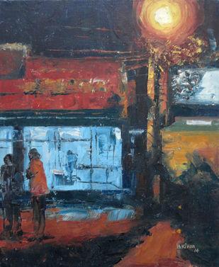 Redboard by Kiran Kumari B, Impressionism Painting, Oil on Canvas, Brown color
